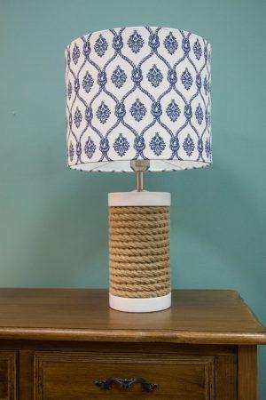 лампа отделанная в морском стиле