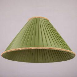 Абажур конус из шелковой ленты фото