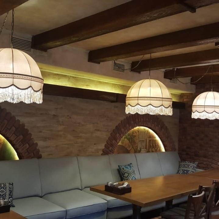 абажуры из ткани для кафе и ресторанов