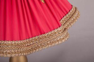 абажур из ткани с вышивкой ручной работы