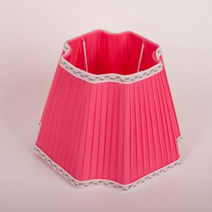 абажур розовый