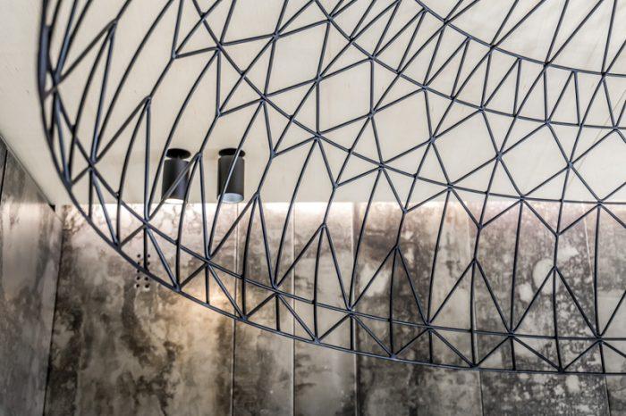 металлический абажур-купол для переделки квартиры в квартирном вопросе