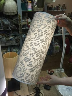 Абажуры из ткани на пластике (34)