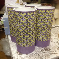 Абажуры из ткани на пластике (73)