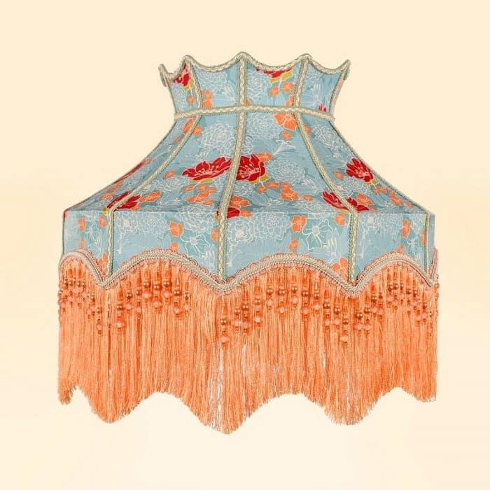 винтажный абажур из ткани флоранс