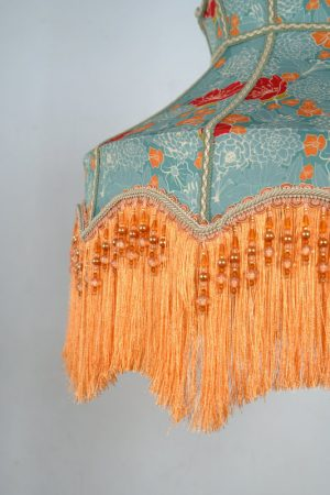 винтажный абажур с бахрамой