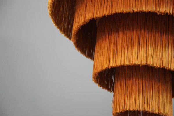 подвесной абажур из бахромы