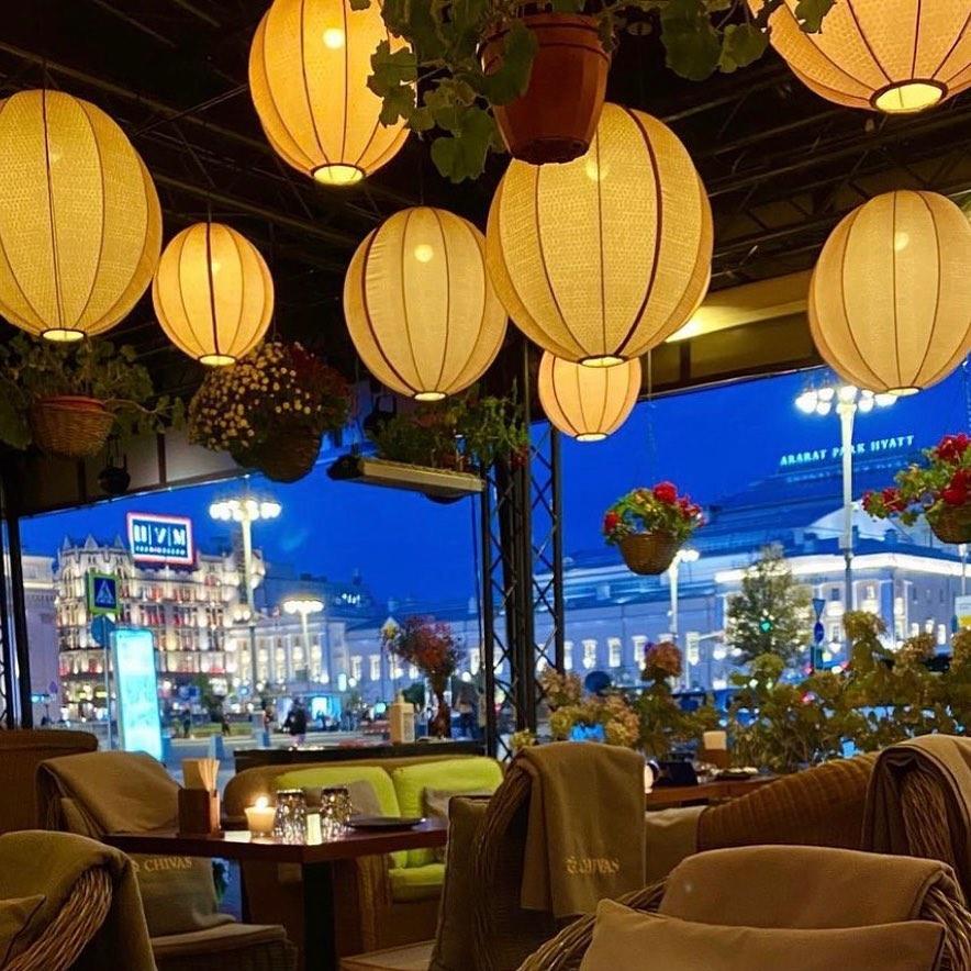абажуры шары для ресторана