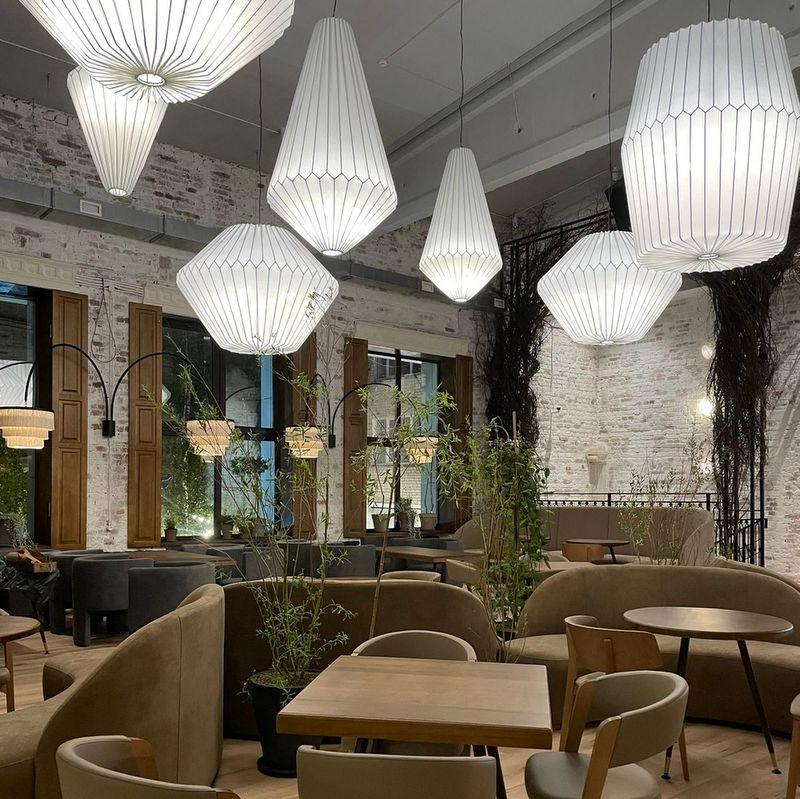 изготовление больших абажуров для ресторанов
